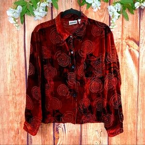 3/$30 Chico's Semi Sheer Holiday Button Up Blouse